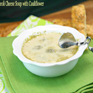 Slow Cooker Broccoli Cheese Soup with Cauliflower.