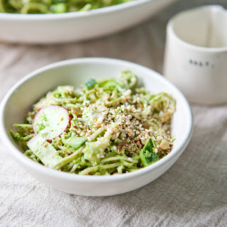 Seedy Soba Noodle Salad with Parsley Pesto