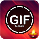 Gif for whatsapp - festival stickers icon