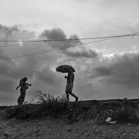 Story of Rainy Day! by Ritwik Ray - Black & White Portraits & People ( black and white )