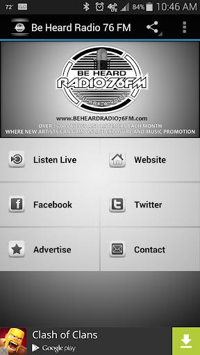 Be Heard Radio 76 FM  screenshots 2