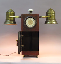 Photo: steampunk lamp and clock