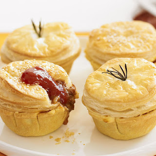 Mini Beef and Stout Pies.