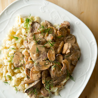 Vension Stroganoff with Spaetzle Recipe