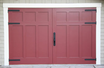 Photo: Torsion box Honeycomb panels make these carriage house doors stable and beautiful.