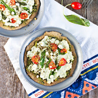 Spinach Pesto & Goat Cheese Individual Pizzas