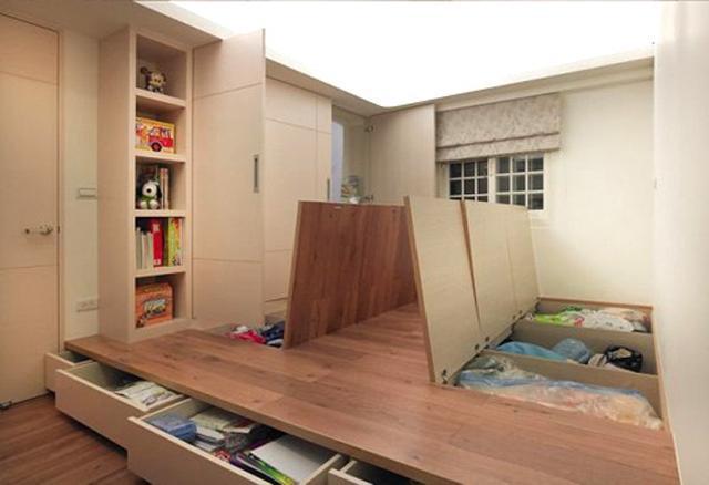 Sử dụng nội thất thông minh giúp tiết kiệm không gian