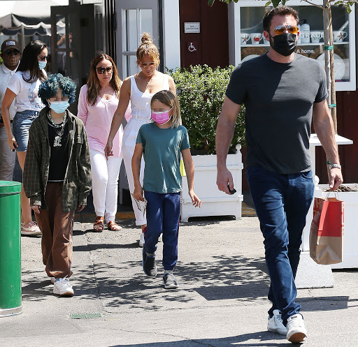 Jennifer Lopez Lunches With Ben Affleck and Kids in ALC Jumpsuit and Valentino Backnet Sneakers Amid Plan to Move in Together