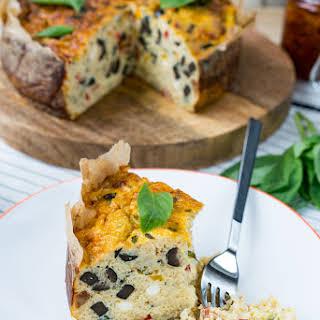 Mediterranean Cauliflower Rice Quiche is an EPIC Brunch Idea!.
