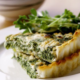 Cheese and Spinach Pastry Pie