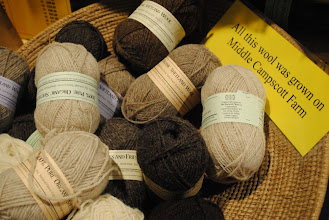 Photo: I loved finding all these yarns with direct references to where the wool was from!