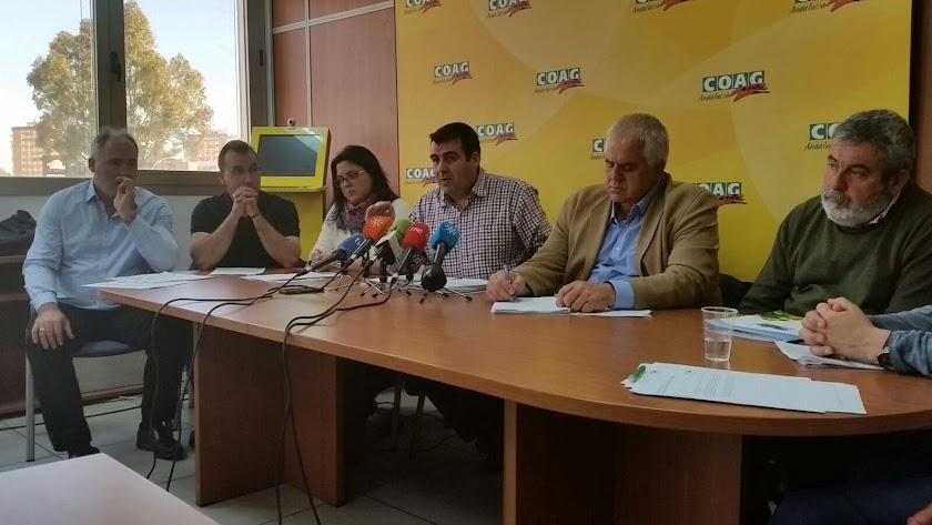 Representantes de Coag en una comparecencia ante la prensa