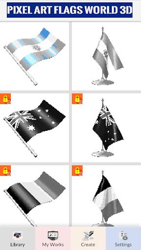 Pixel Art: 3D Flags & Cartoon Coloring by Number cheat screenshots 1