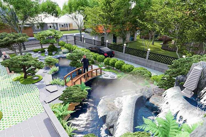 Thiết kế và thi công cảnh quan sân vườn với các yếu tố kết hợp hài hòa