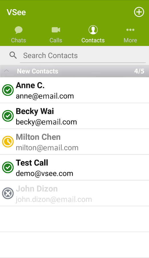 VSee Messenger- screenshot