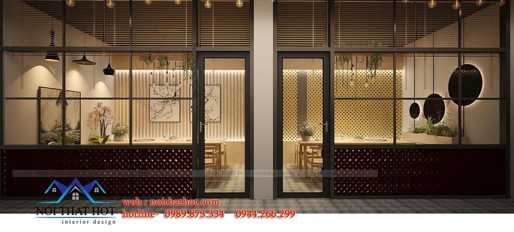 thiết kế nhà hàng lẩu nướng độc đáo