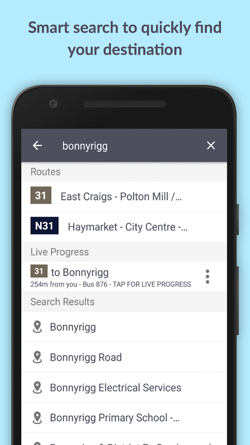 Transport for Edinburgh- screenshot