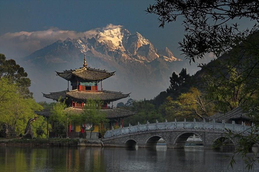 Jade Dragon Mt. Lijiang, Yunnan, China by Peter Wolledge - Travel Locations Landmarks