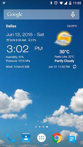 天気&時計ウィジェット 用Android