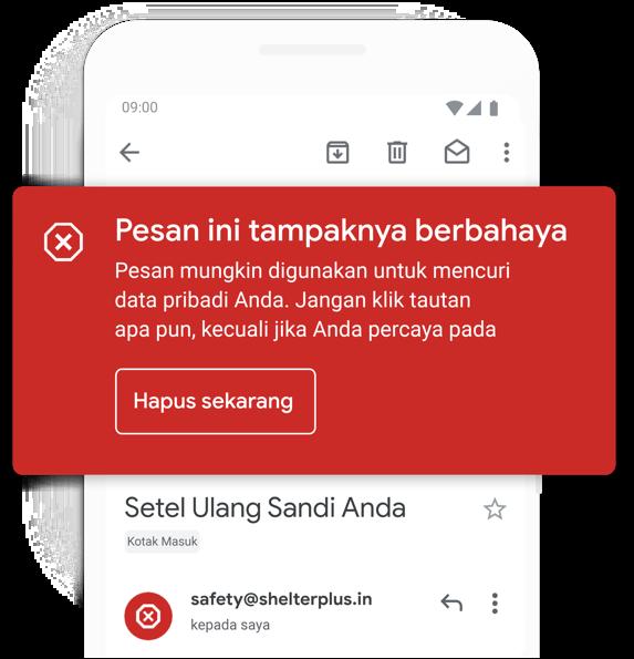 Hindari email mencurigakan
