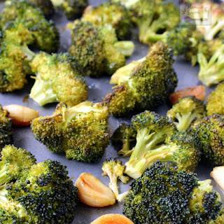 Roasted Broccoli with Garlic Butter and Lemon