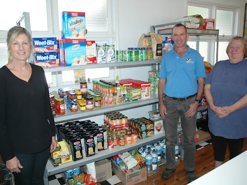 Can you help: Shared Table treasurer Louise Stewart, president Tim Capp and volunteer Marie Hatch are on the lookout for community sponsorship to help them feed Narrabri's needy.