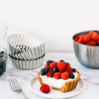 NO BAKE ORANGE CREAM TARTLETS WITH MIXED BERRIES