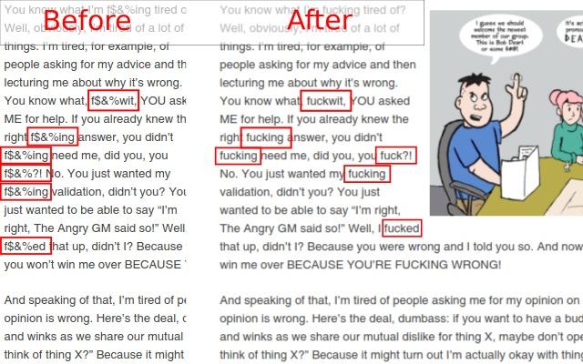 AngryGM Anti-Anti-Swear Filter