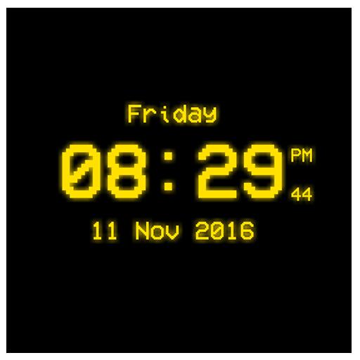 Pixel Digital Clock LWP