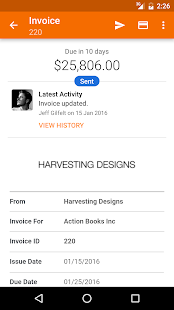 Harvest Time & Expense Tracker Screenshot