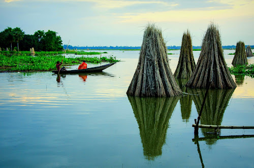 Unknown Destination  by Santanu Goswami - Landscapes Waterscapes ( waterscape, transportation, boat, landscape, river )