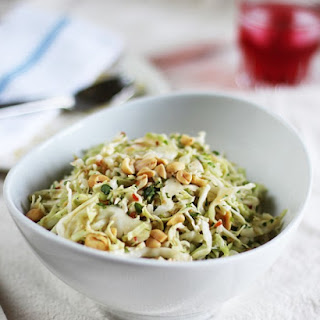 Gingery Cabbage Slaw with Spicy Lime Dressing.