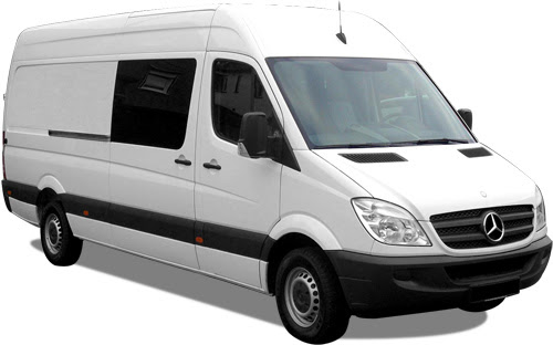 Alquiler de furgoneta mercedes sprinter 313 en Zaragoza y Huesca