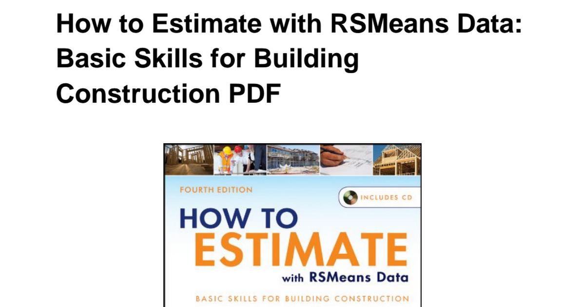 B007SIFEOY-How-Estimate-RSMeans-Data-Construction-ebook pdf