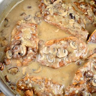 Creamy Mushroom Garlic Chicken.