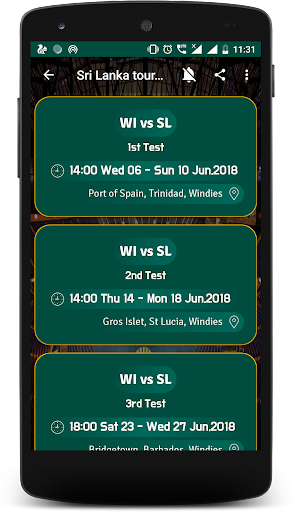 Live Cricket Score 2018 - schedule & Cricket NEWS 5.1 screenshots 7