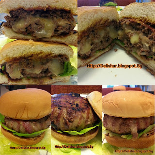 Bacon Wrapped Pepper Jack Stuffed Burger