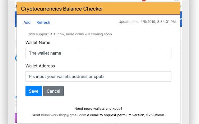 BTC Balance Checker