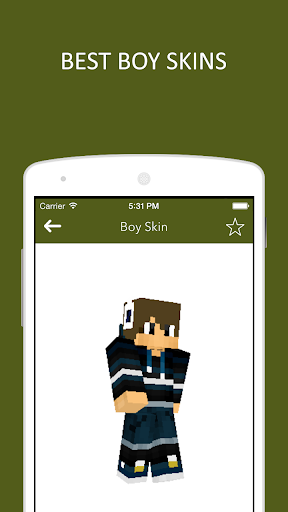 3D Boy Skins for Minecraft PE