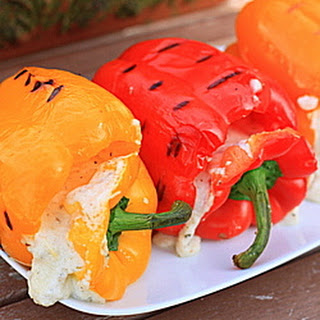 Four-Cheese Stuffed Grilled Peppers.