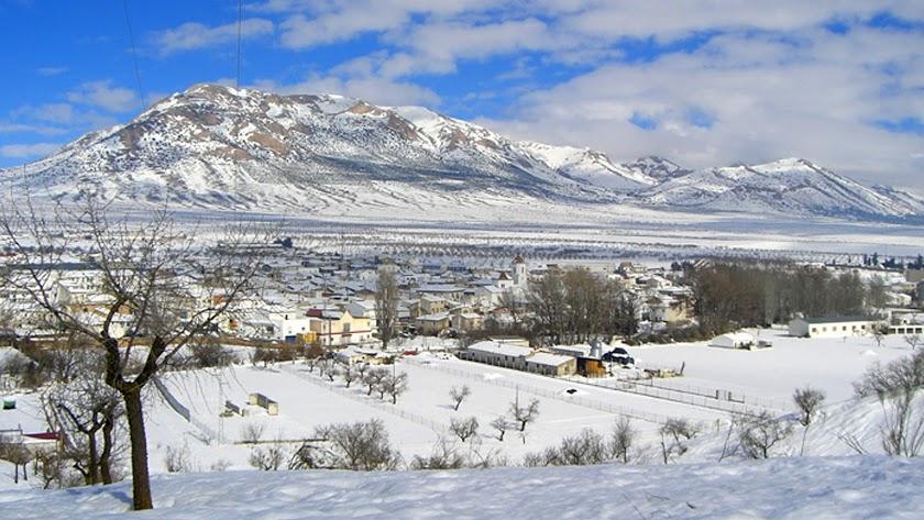 Chirivel, nevado, en una imagen de archivo, está entre los municipios en los que puede nevar.