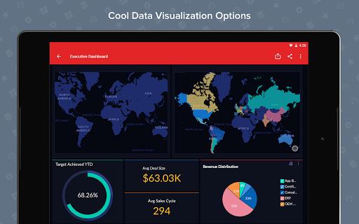 Zoho Analytics – Mobile BI Dashboards screenshot 8