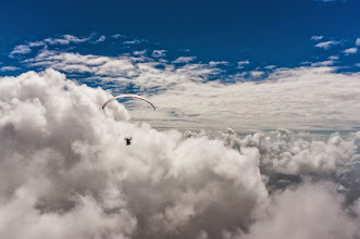 Photo: High above the clouds