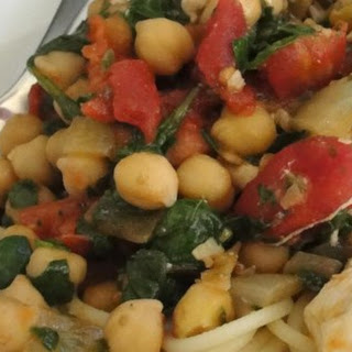Pasta with Spinach and Chickpeas.