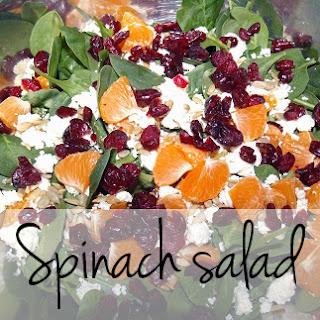 Healthful Spinach Salad.