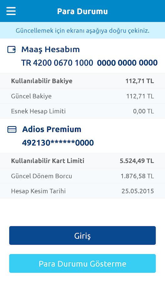 Yapı Kredi Mobil Bankacılık - screenshot