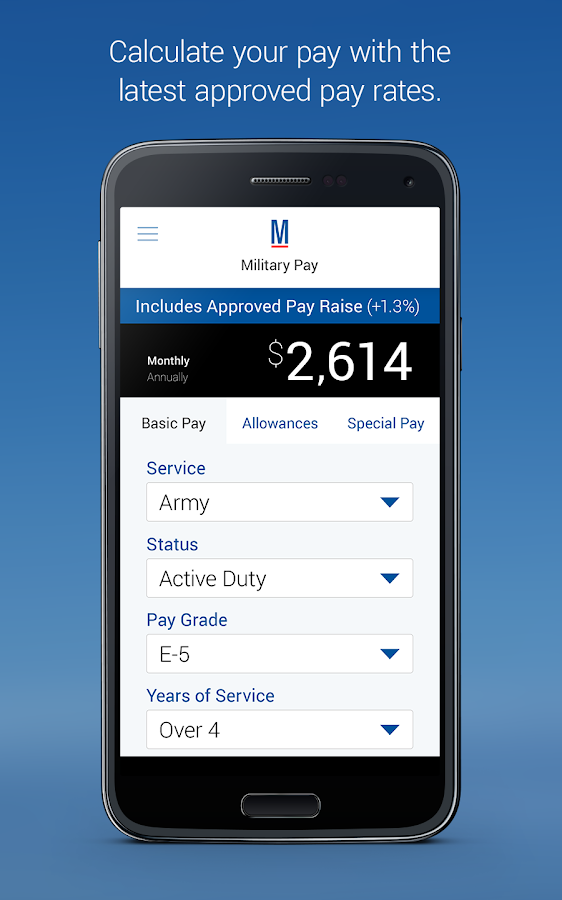 Military Pay by Military.com- screenshot