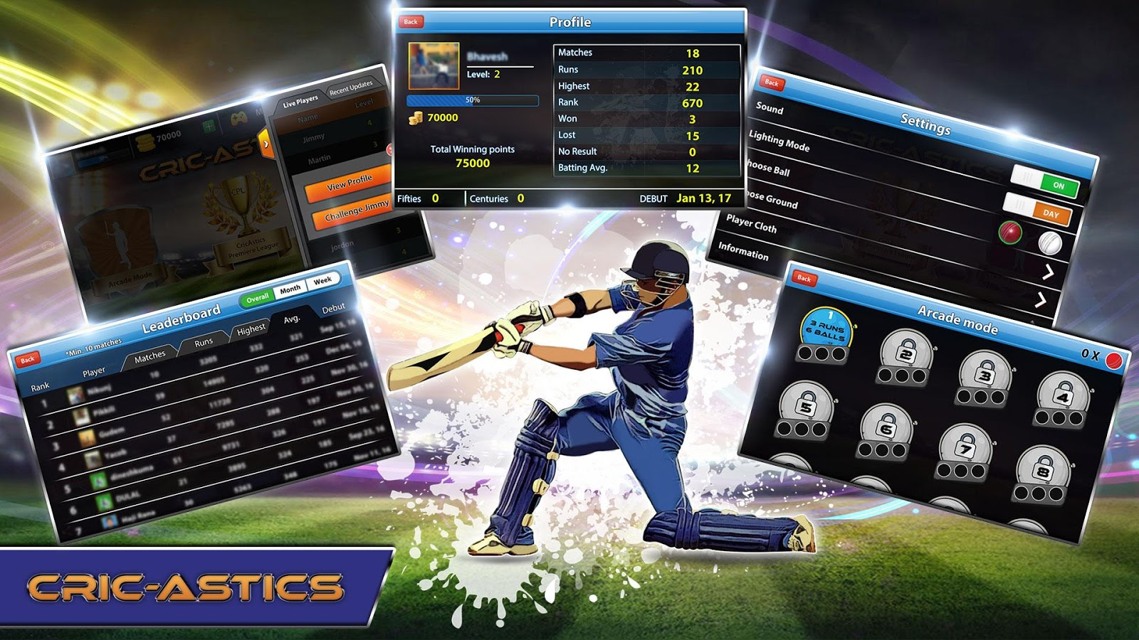 CricAstics 3D Multiplayer Cricket Game- screenshot