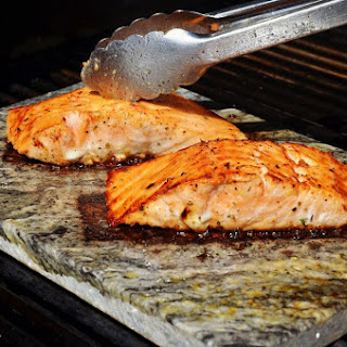 Grilled Salmon with Thyme and Lemon.