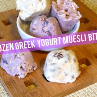 Frozen Greek Yogurt Muesli Bites
